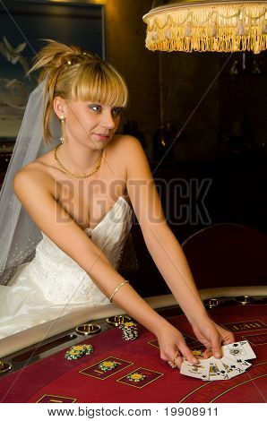 Funny Bride Playing Cards