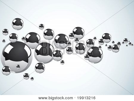Abstract Background With Metal Balls