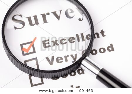 Questionnaire And Magnifier
