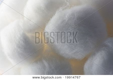 Cotton Ball Texture Close Up