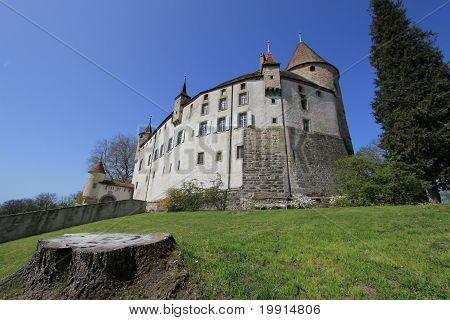 Old Castle Of Oron, Vaud Canton, Switzerland