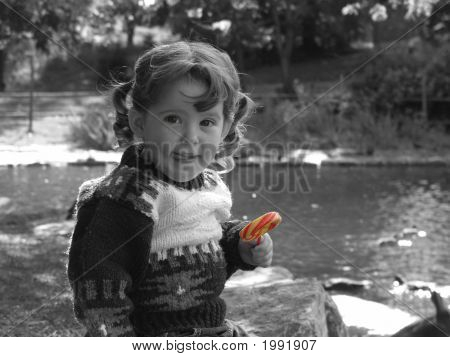 Child With A Lollipop