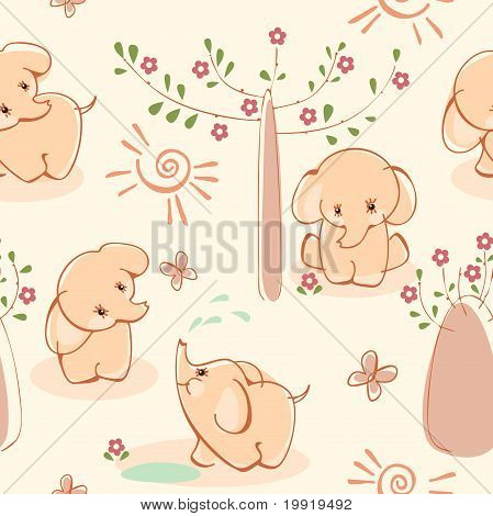 Wallpaper with elephant