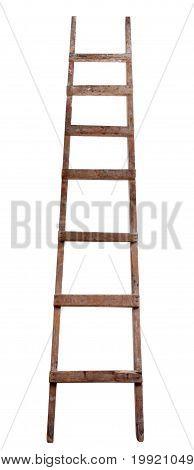 Escalera de madera vieja