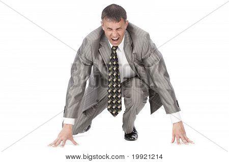 The aggressive businessman