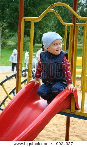 Little Boy On Playground