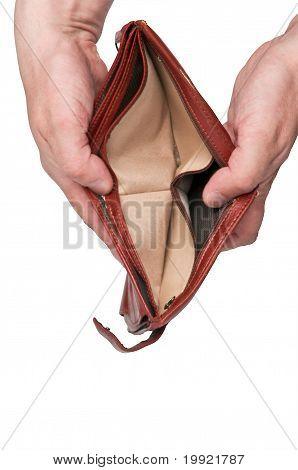 Empty Wallet Open In Hands - Bankrupt