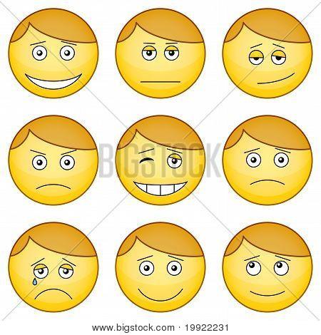 Set de smilies