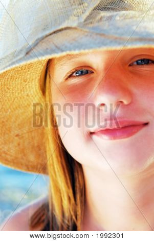 Teenage Girl In A Hat
