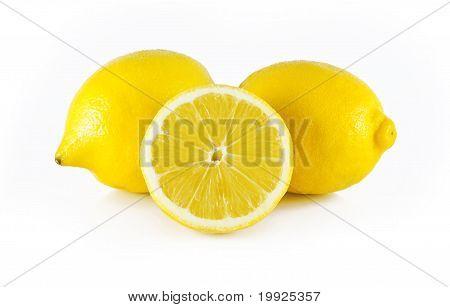 two lemons, and half