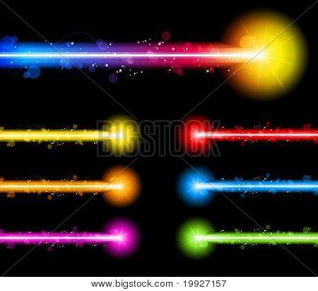 Laser coloridas luzes de néon