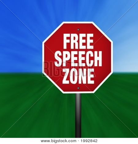 """Free Speech Zone"" Stop Sign"