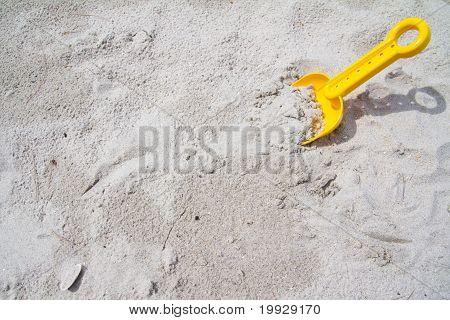 Plastic Spade On Beach