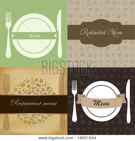 Restaurant Menu Set