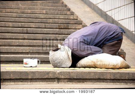 Beggar Beijing China