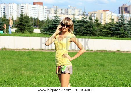 Girl Talking On The Phone.