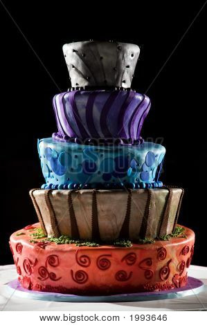 funky wedding cakes cool wedding cake funky and stock photo 14531