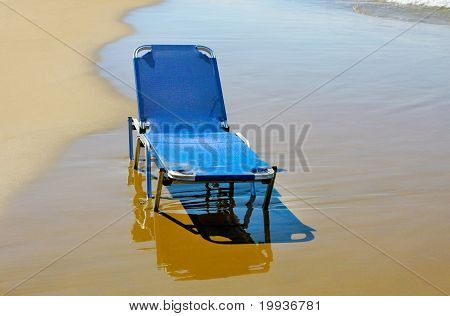 Beach In Greek, Lonely Plank Bed