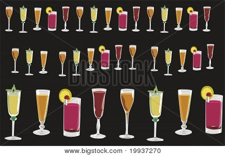Cups And Glasses Of Different Colors