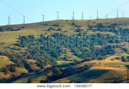 Wind-driven Generator On The Ridge (meganom, Crimea)