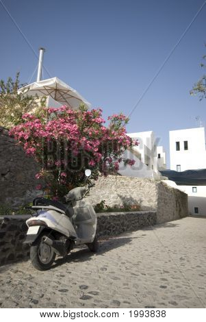 Street Scene Greek Islands