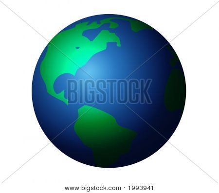 Isolated Graphic Planet Earth