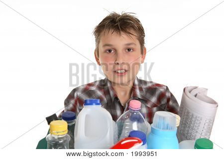 Boy With Recycling
