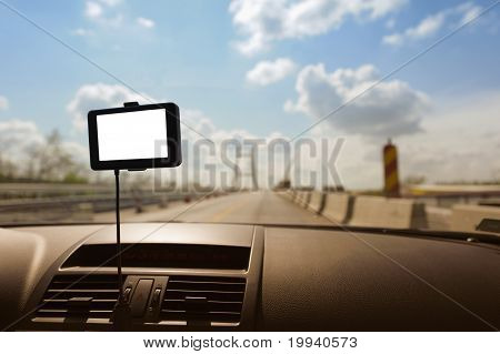Gps Navigation In A Car