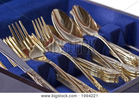 Gold Eating Utensils
