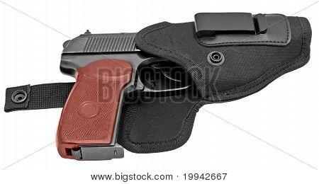 Handgun In A Holster