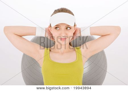 Fitness Teenager Woman Exercise In Sportive Outfit
