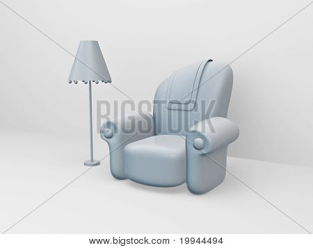 Toon Sofa And Floor Lamp