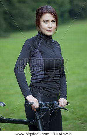 Fitness Woman With Bike