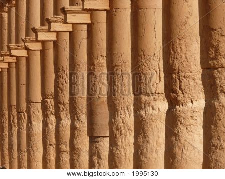 Ancient Historical Columns, Great Colonnade, Palmyra, Syria