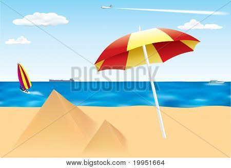 Summer Scene on the beach