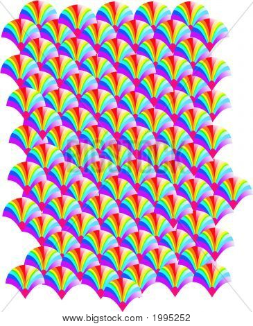 Abstract Geometrical Cool Rainbow Duplicate Tiled Background