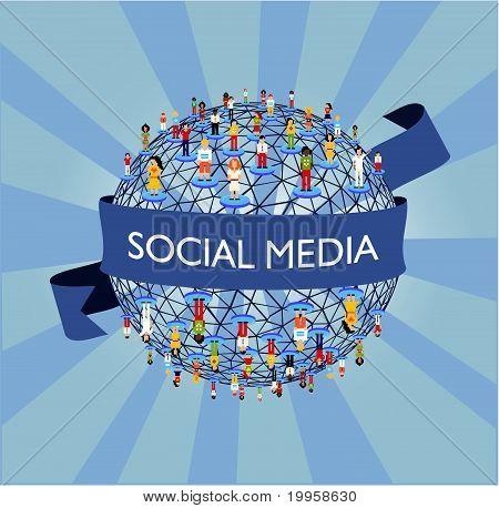 Rede de mídia social do mundo