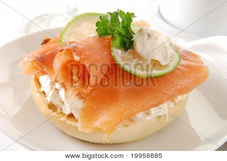 Bagel With Lox And Cream Cheese
