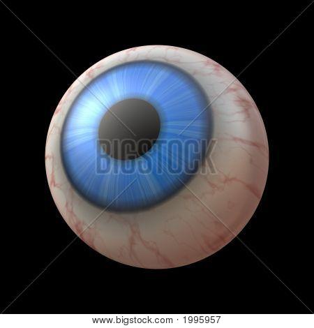 Human Eyeball Against Black Background