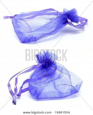 Purple Satin Drawstring Gift Bag