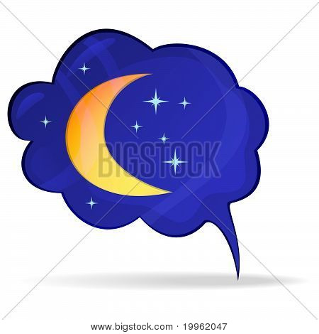 Bubble with the moon and stars