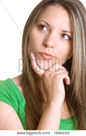 Beautiful Thinking Woman