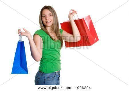 Shopping Teen Girl