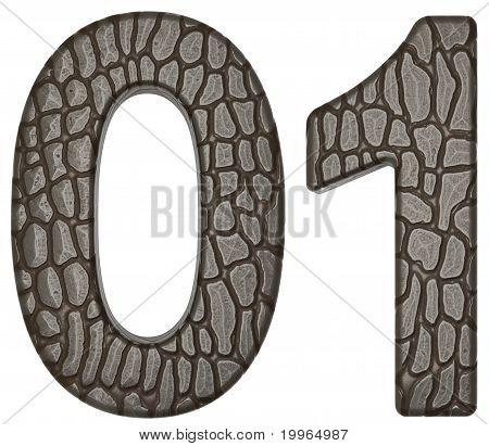 Alligator Skin Font 0 1 Figures