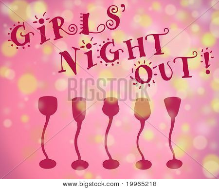 Girls' Night Out Background