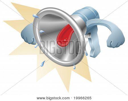 Bullhorn Megaphone Loudhailer Shouting