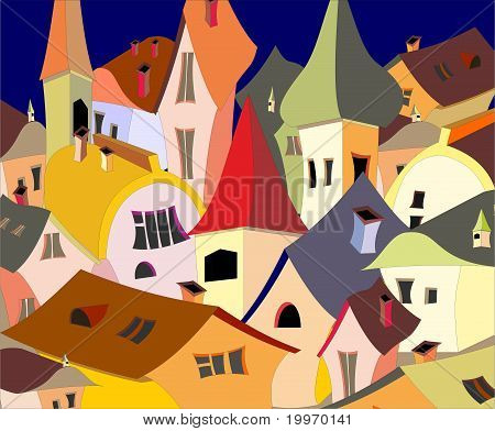 houses in vector