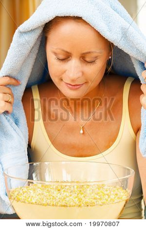 Woman with colds and flu