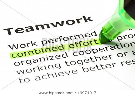 Teamwork Definition Green Marker
