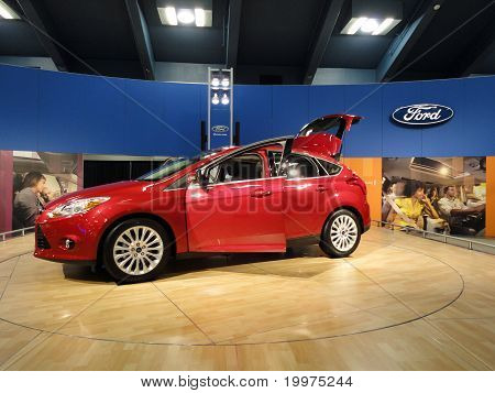 Red Ford Fiesta On Display